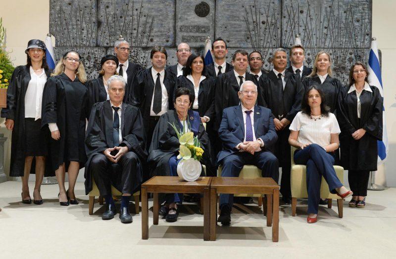 השבעת שופטים בבית הנשיא | צילום מארק ניימן